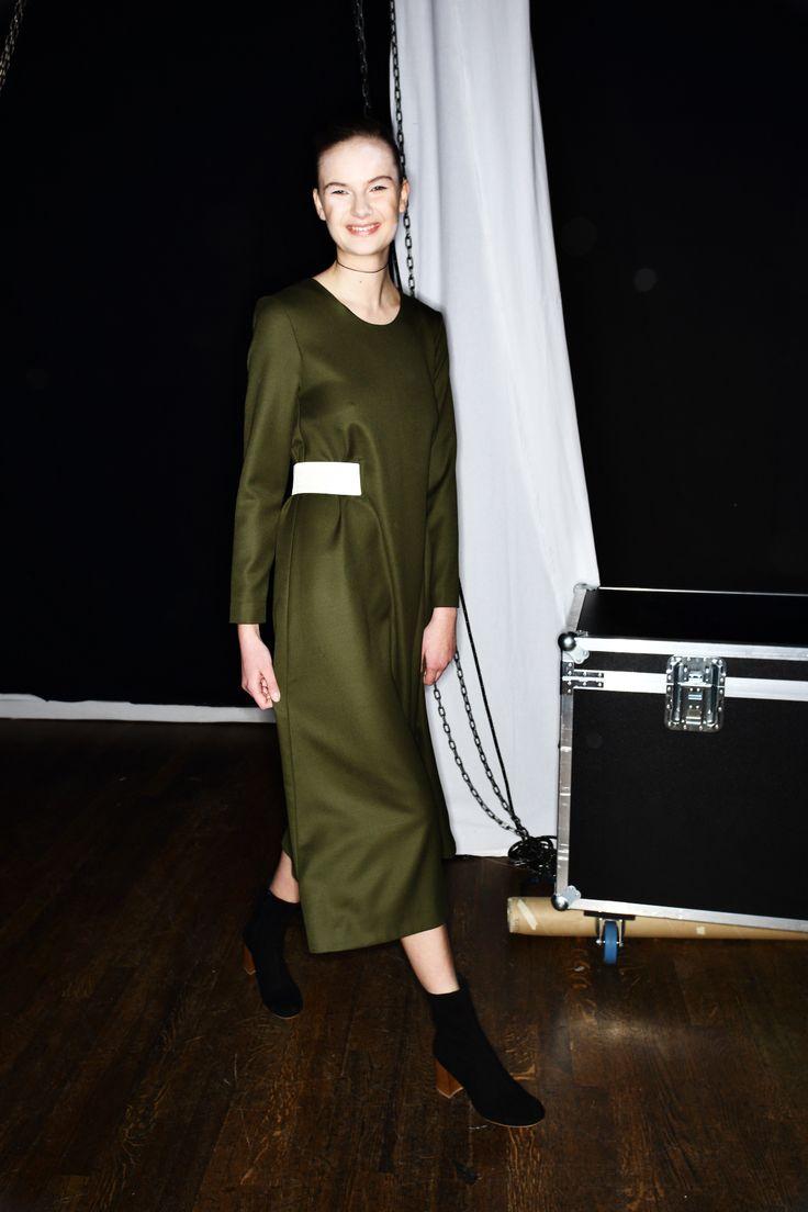 Greta Gram AW1617 Fashion show at Berns Stockholm Backstage shot by Sonny Vandevelde