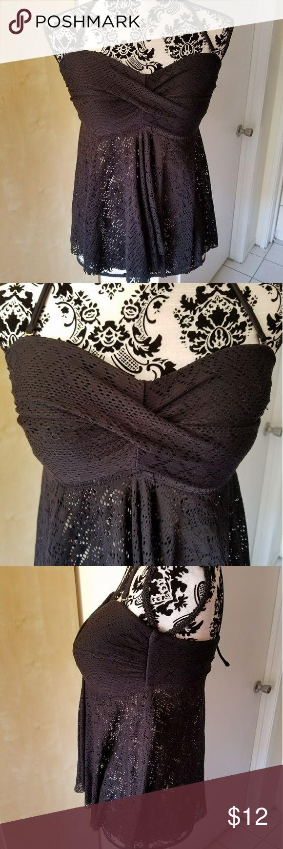 Lace tankini top Can be worn as a regular top or as a tankini top. Merona Tops