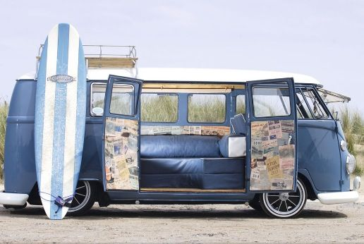 Surf bus. Vdub Camper Girl.