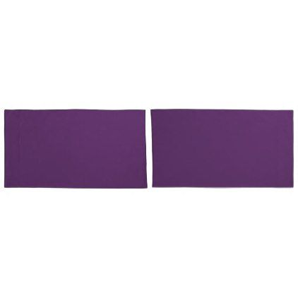 #Pair Of Purple Pillow Cases - #Pillowcases #Pillowcase #Home #Bed #Bedding #Living