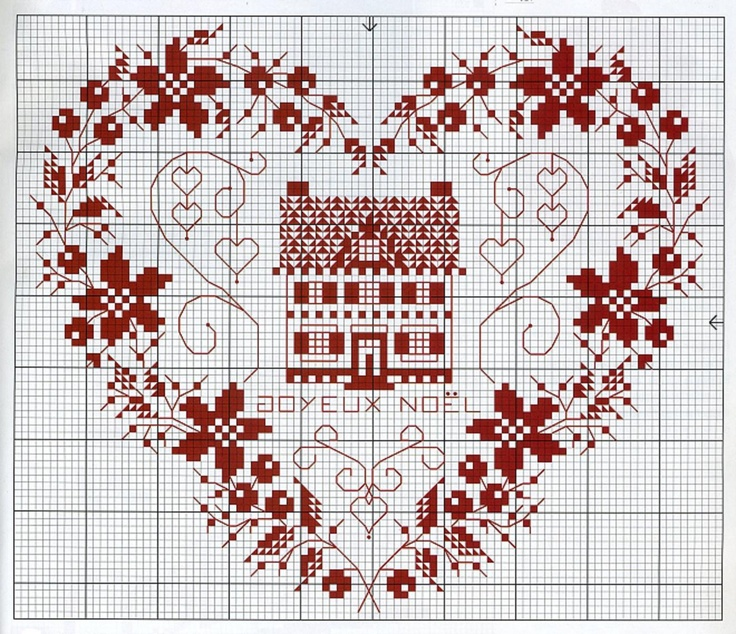 Cross-stitch Home is where your Heart is... no color chart available, just use pattern chart as your color guide.. or choose your own colors... Suzi What I like