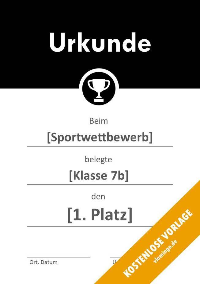 Urkunden Vorlagen Urkunde Vorlagen Und Sport