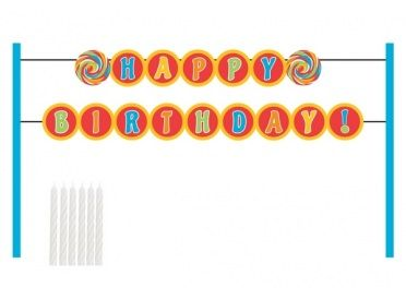 "Cake Banner Kit, ""Happy Birthday"" (Sugar Buzz) - Whish.ca"