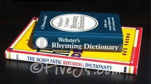 Do you have a rhyming dictionary on your homeschool bookshelf? For me, buying one didn't cross my mind until I happened to see a copy on Amazon.com.  I honestly don't remember ever using a rhyming dictionary as a child, but I do remember struggling over poetry assignments. If I had used a rhyming dictionary, I tend to think those struggles wouldn't have been so painfully memorable.