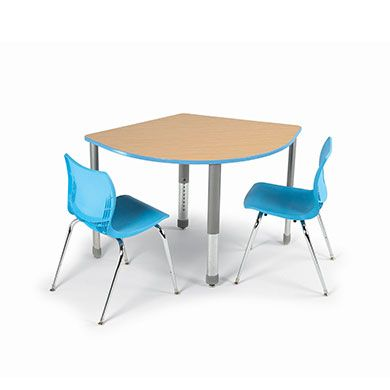 Interchange 3-2-1 Table This versatile, contemporary desk designed for collaborative learning provides sleek looks and solid functionality. The two-student desks can be arranged in many ways for both individual and group learning. Its large work surface provides ample space for two students doing work of all kinds. Available in 11 standard laminate colors, 21 standard edge colors and Black or Platinum frame.