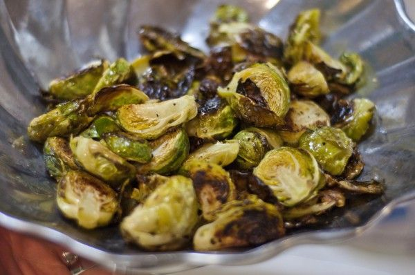 AMAZING CRISP-ROASTED BRUSSELS SPROUTS, SHALLOTS, PEARS & PROSCIUTTO · Faith Mi…   – Veggies/sides to try
