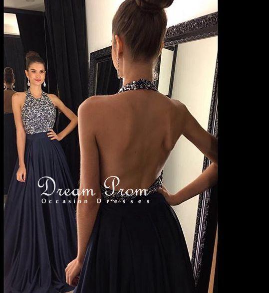 Elegant long prom dress,black round neck sequin long prom dress,dream prom dress - Thumbnail 1