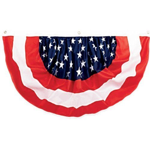 """Amscan Stars & Stripes Fourth of July Party Bunting Banner Decoration (1 Piece) Multi Color 7 x 7"""""""