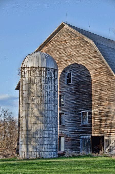 Barn & Silo.......WE HAVE A RED-BRICK SILO NEAR OUR HOUSE IN BELLA VISTA......THERE IS TALK IT MIGHT BE DEMOLISHED......HOPE NOT B/C WE KNOW WE ARE ALMOST HOME WHEN WE PASS IT.....SORTA LIKE A LANDMARK.............ccp