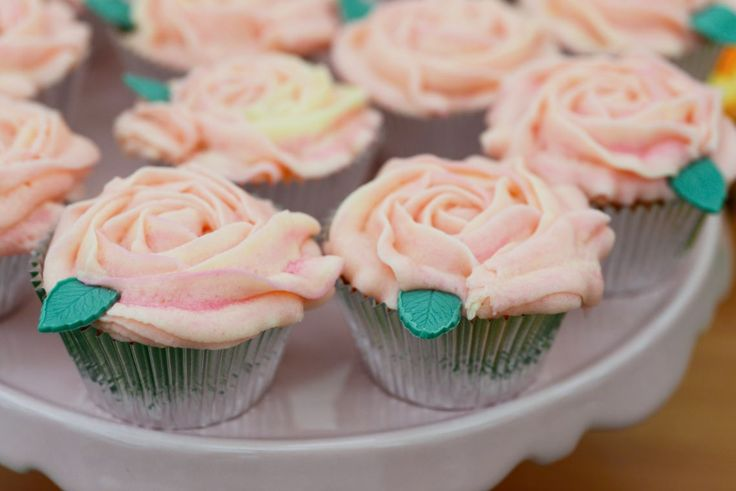 Mark's Rose-Flavoured Buttercream Swirl Cupcakes.