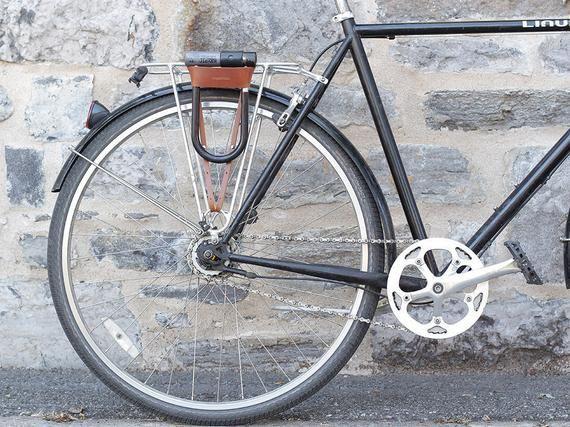 Bicycle U Lock Holster Leather