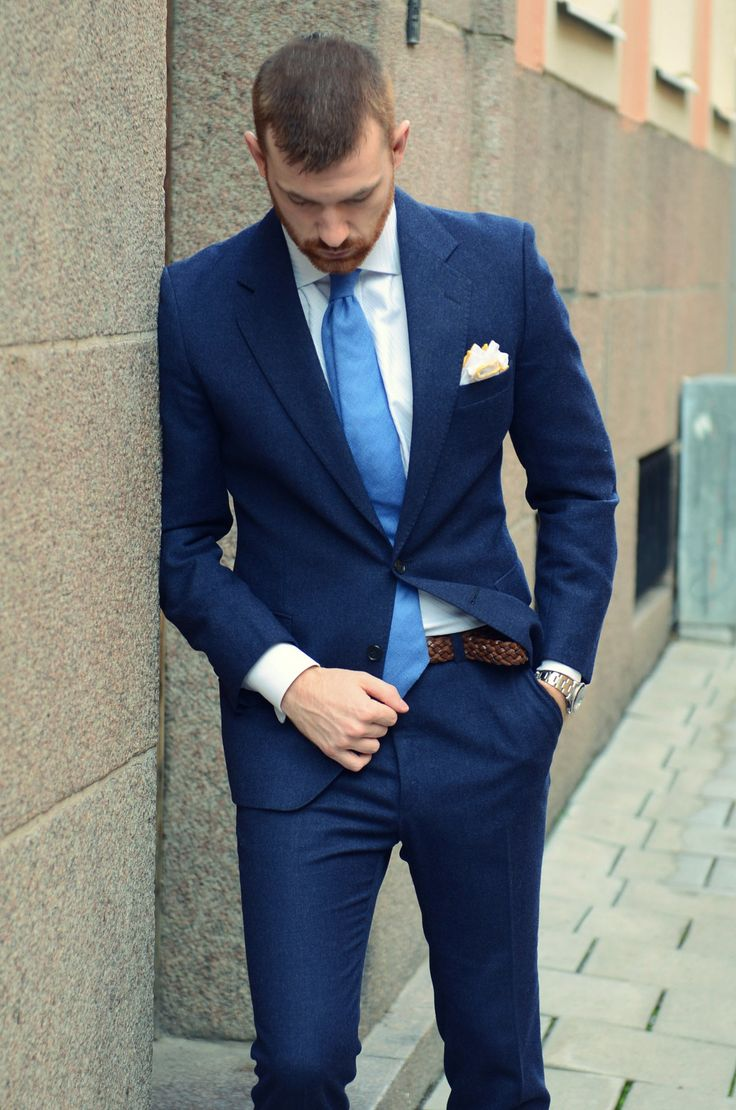 Classic. Blue.Christian Grey, Blue Suits, Men Style, Men Fashion, Men'S Fashion, Men'S Style, Wool Suit, Fall Winter, Style Blog