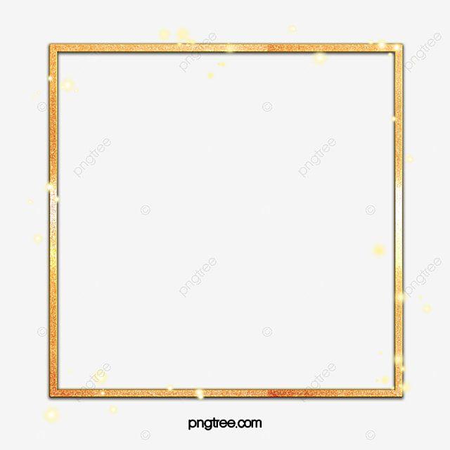 Moldura Brilhante De Ouro Quadrado Quadrado Ouro Leve Imagem Png E Psd Para Download Gratuito Frame Frame Decor Gold Frame