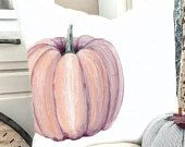 Large Pumpkin Pillow Cover - Halloween Pillow Cover - Thanksgiving Pillow Cover - Orange Pumpkin Pillow - Neutral Pillow Cover - Give Thanks