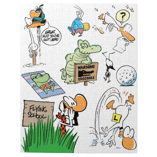 """Here is a fun jigsaw puzzle with plenty of Swamp characters to put together. 10"""" x 14"""" (252 pieces). Great gift the family will enjoy! $21.95"""