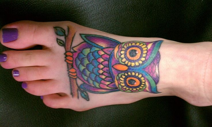 Beautiful colorful owl | tattoo | Pinterest