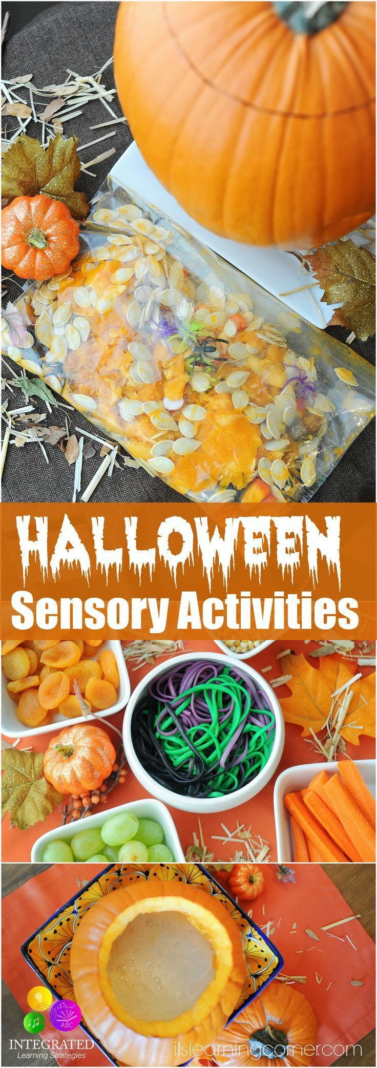 """Ghoulish"" Halloween Sensory Activities to Calm Sensory Sensitivity | ilslearningcorner.com #sensoryactivities #sensoryplay"