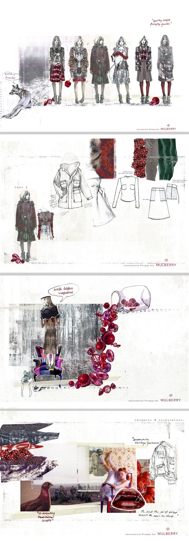 Fashion sketchbook work by Jousianne Propp #design
