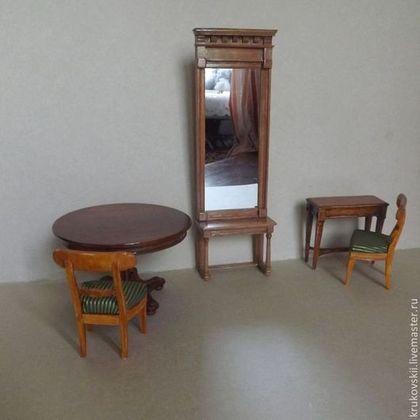 Кукольный дом ручной работы. Ярмарка Мастеров - ручная работа Миниатюрное зеркало для куклы. Handmade. My furniture for dollhouse and doll