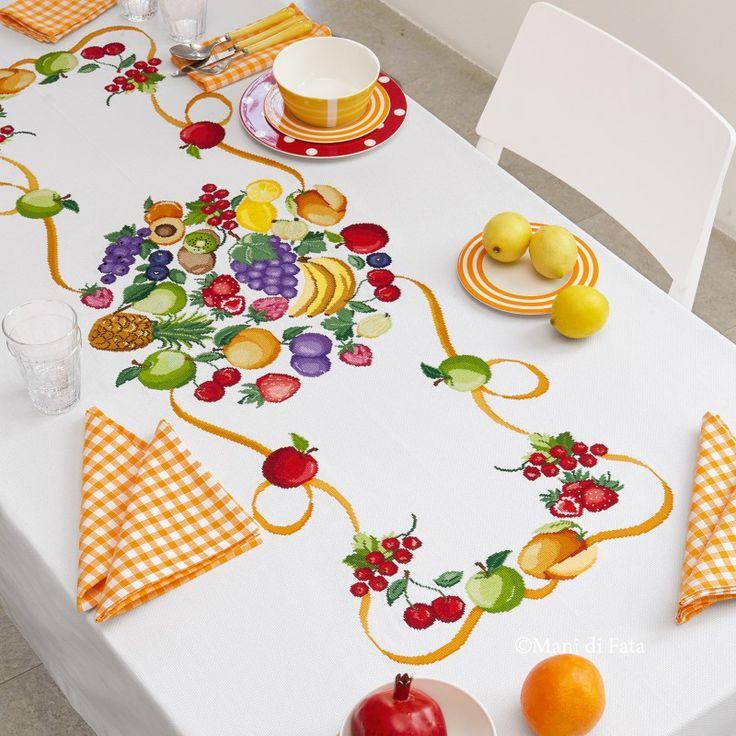 176 melhores imagens sobre mani di fata punto croce no - Stoffe per tovaglie da tavola ...