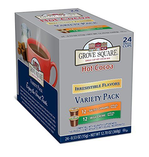 grove square hot cocoa variety pack 24count single serve cup for