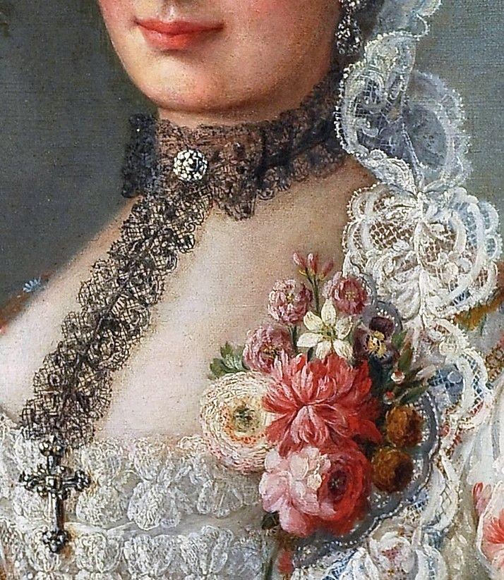 Portrait of a Lady by Francois Hubert Drouais