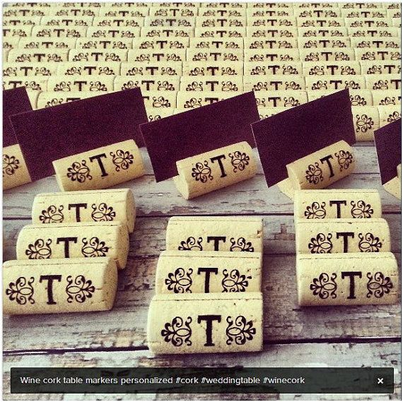 Wine Cork Place Card Holder Weddings Set of by PersonalizedGallery, $62.50