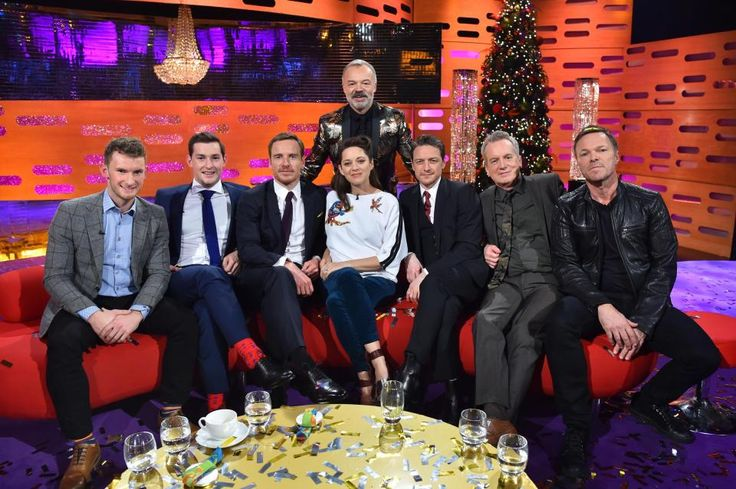 Whos on The Graham Norton New Years Eve Show? Guests Michael Fassbender and Frank Skinner join Graham on the sofa