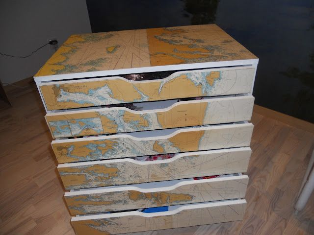 Another map-ified piece of furniture.