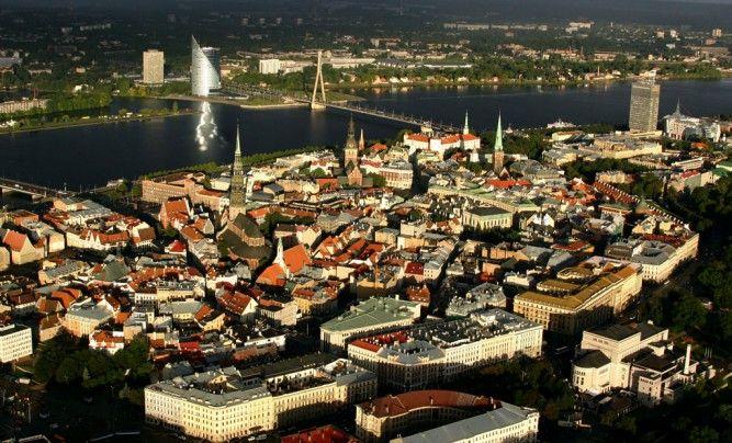 A bird's-eye view of Old #Riga