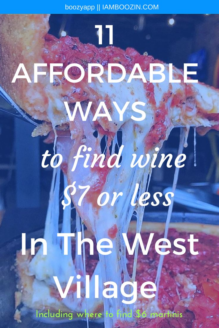 Happy Hour West Village | 11 Affordable Ways To Find Wine $7 Or Less In The West Village [Including specials as low as $4]...Click through for more! New York Happy Hour Happy Hour New York NYC Happy Hour NYC Wine Bar Wine Bar NYC