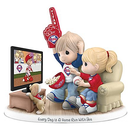 Precious Moments Every Day Is A Home Run With You - Philadelphia Phillies Figurine