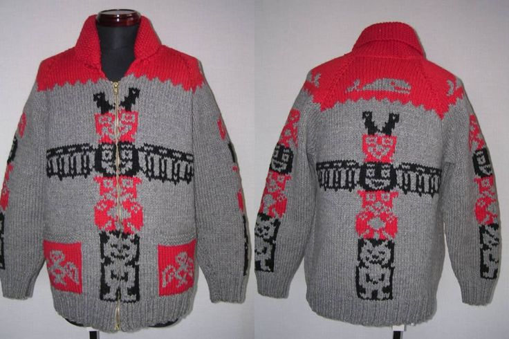 50's Totem Pole Mary Maxim Sweater: My Collection of 1940s-1950s-60's-70's Vintage Sweaters. Swing Era, Hollywood , Cowichan , Mary Maxim designs, Curling, Rockabilly, Indian and Kodiak designs