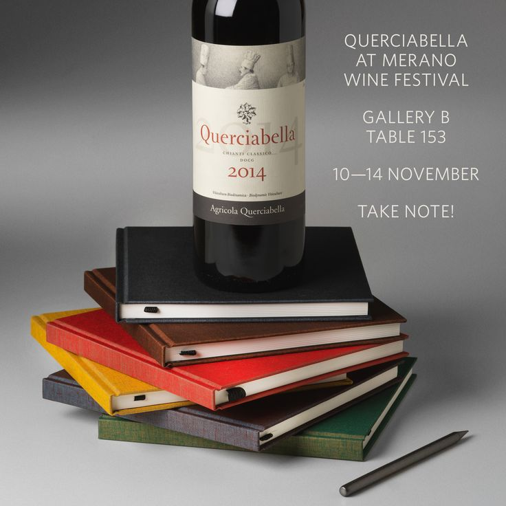 Experience Querciabella's latest releases November 10–14 at  Merano WineFestival  (Gallery B, Table 153).