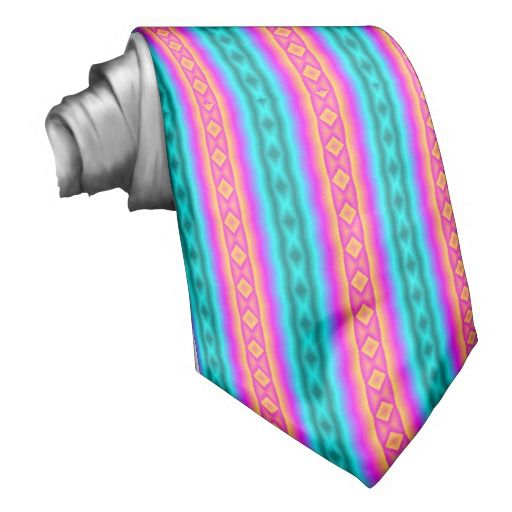 Vertical colorful pattern tie