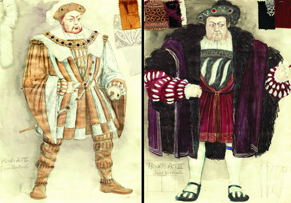 Het Paard van de Koning (Young and old Henry VIII). Ensemble, Amsterdam). Costume design by Colin Winslow.