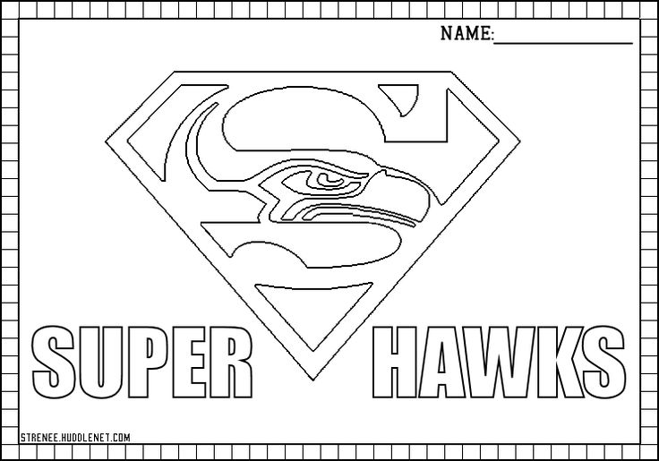 seattle seahawks helmet coloring pages - photo#4