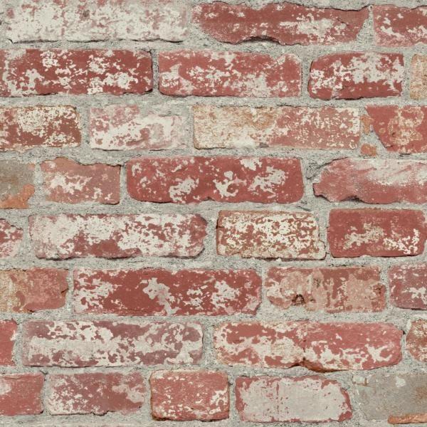Roommates Stuccoed Dark Red Brick Vinyl Peelable Wallpaper Covers 28 18 Sq Ft Rmk9036wp The Home Depot Peel And Stick Wallpaper Red Brick Wallpaper Faux Brick