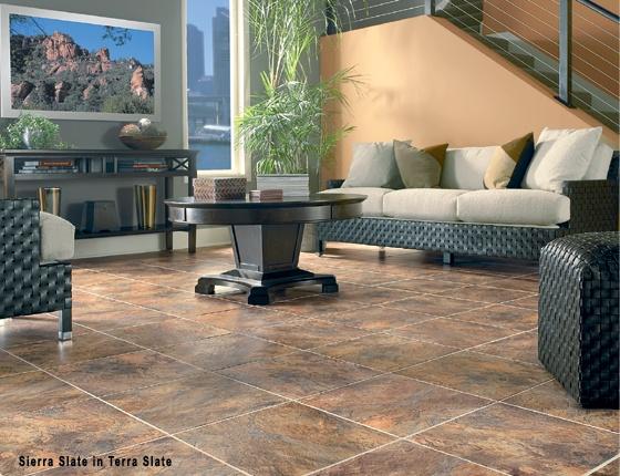 Congoleum DuraCeramic Sierra Slate available at Oscar's Carpet One. #flooring #home