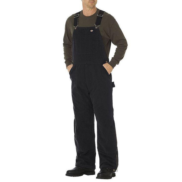 Men's Dickies Sanded Duck Insulated Bib Overall, Size: Medium, Black