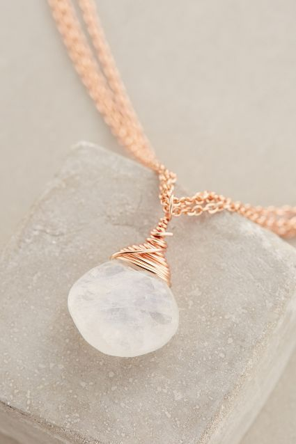 Morning Moon Pendant Necklace - anthropologie.com