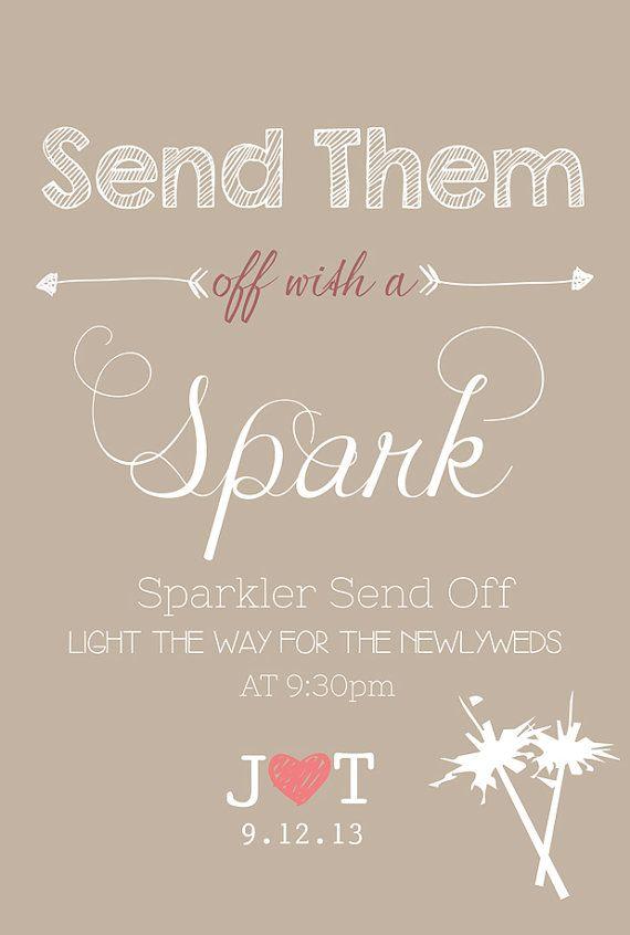 Wedding Sign Sparkler Send Off Wedding Personalized