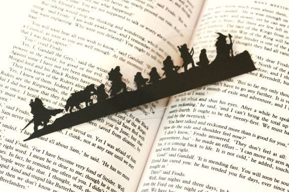 Lord of the Rings Bookmark... read the book and take a break by imagining the conversation occurring in the bookmark