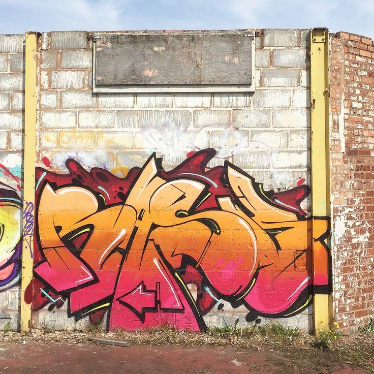 Rask ... Graffiti in tight spaces graffiti art Rask graffiti