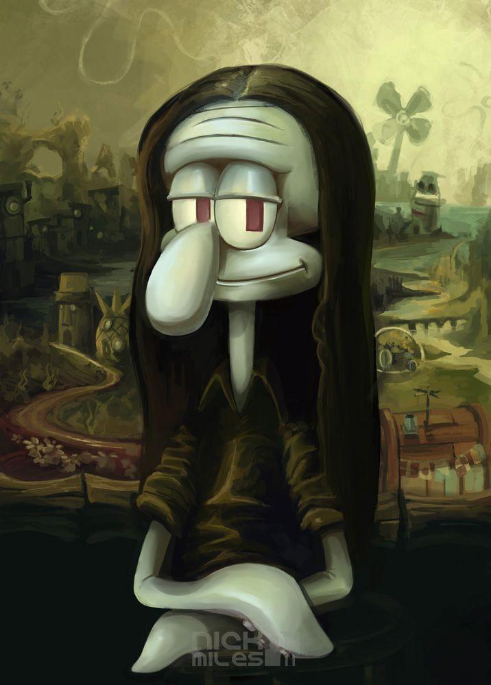 Mona Squidward [Nicholas Miles] (Gioconda / Mona Lisa)
