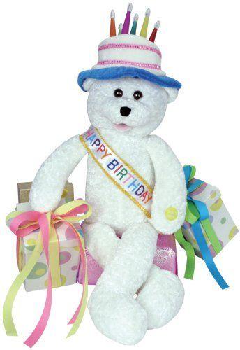 "Chantilly Lane 19"" Birthday Bear Sings ""Happy Birthday"" F"