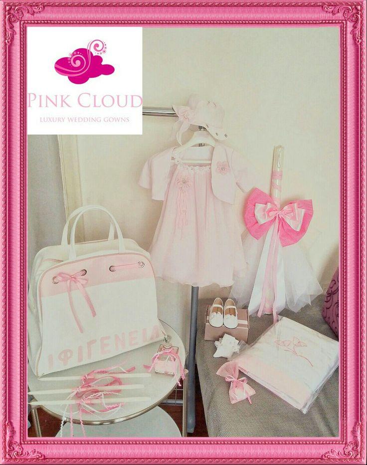 #pink#butterflies#pinkcloud#christening#girl