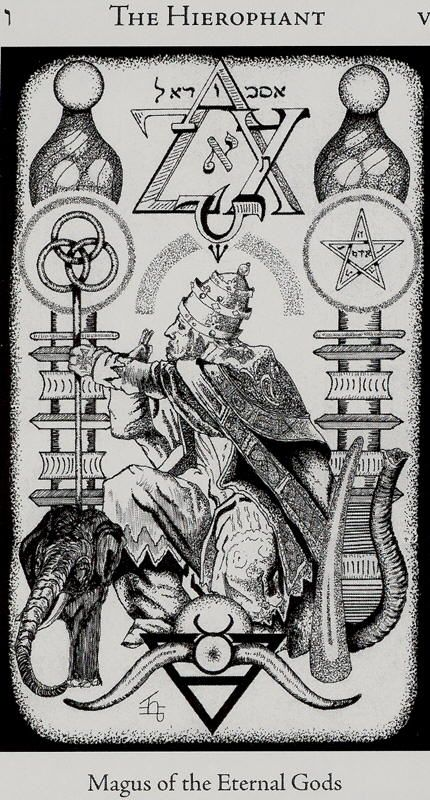 HE- V - The Hierophant | Images from the Hermetic Tarot are used by permission of U.S. Games Systems, Inc., Stamford, CT 06902 USA.   Copyrights by U.S. Games Systems, Inc.