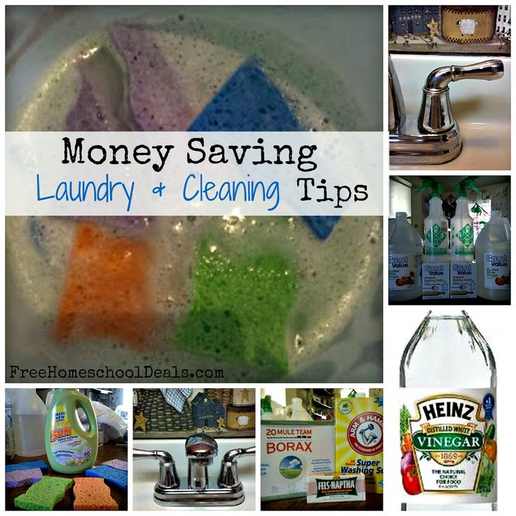 Money Saving Laundry and Cleaning Tips