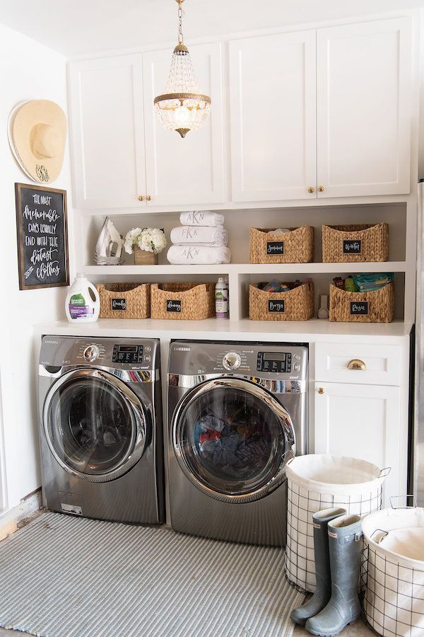 Small Laundry Room Ideas #homedecor #laundryroom #remodeling #homeideas